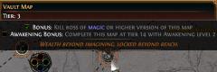 Podmínka pro získání bonusu na bílé mapě