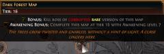 Podmínka pro získání bonusu na červené mapě