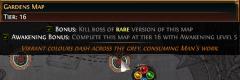 Podmínka pro získání bonusu na žluté mapě