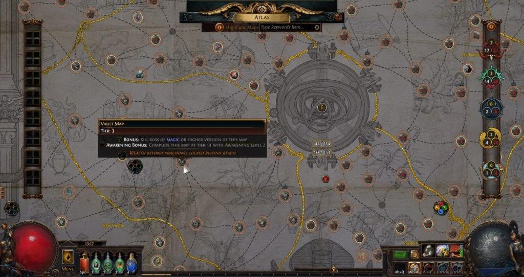 Tier 3 Vault Mapa na novém Atlasu