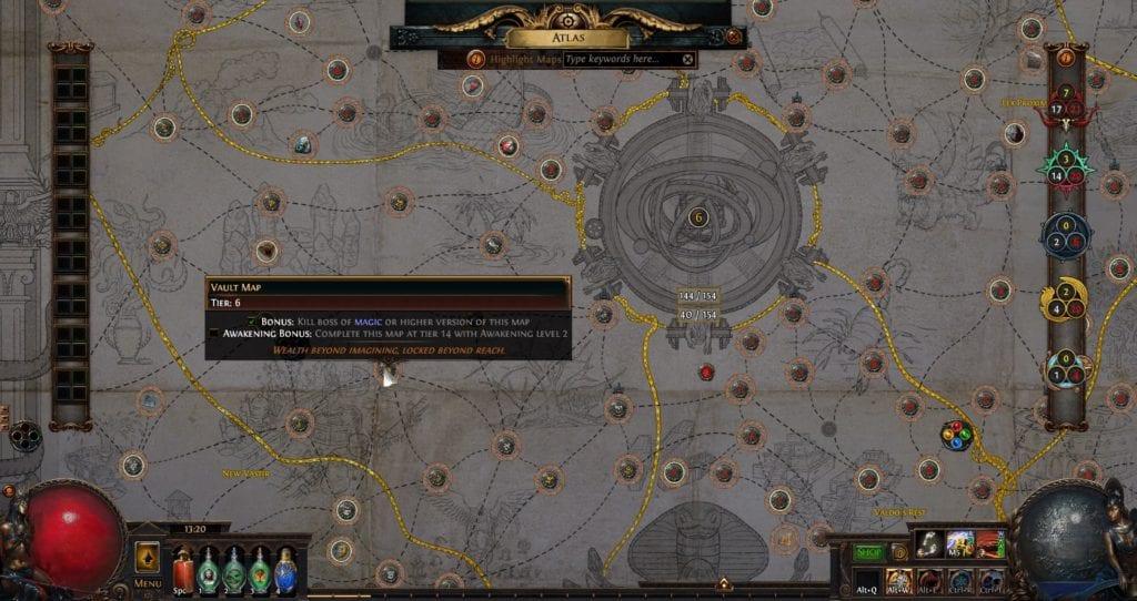 Mapa Vault na Tieru 6